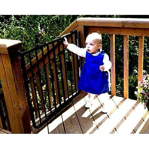 Skroutz Safety Gates for Outdoor Deck Stairs Stairway 27quot; to 42.5quot; Wide X 29.5quot;