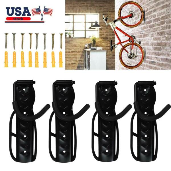 Steel Bike Rack Garage Wall Mount Bike Hanger Storage System Vertical Bike Hook $45.99