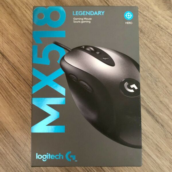 New Retail Logitech G MX518 Legendary Gaming Wired Mouse
