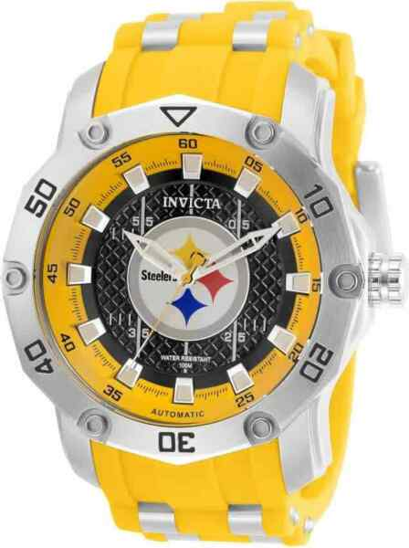 Invicta NFL Pittsburgh Steelers Automatic Black Dial Men#x27;s Watch 32031 $122.06