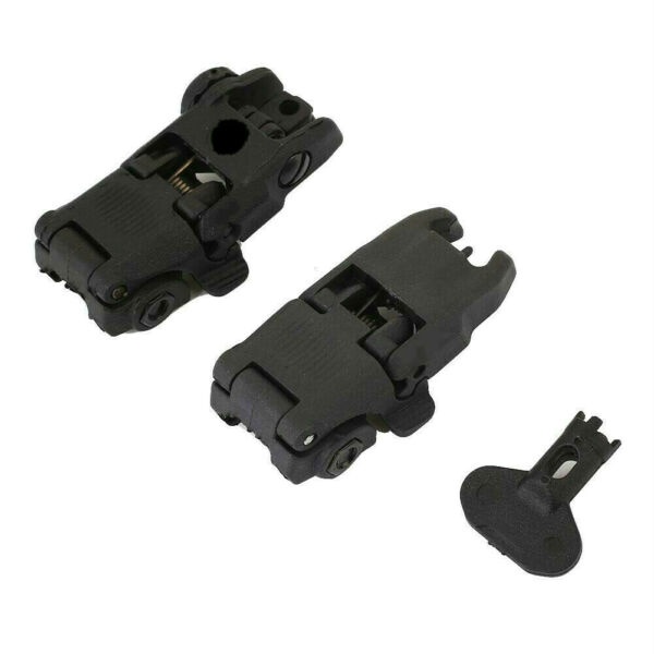 Gen2 Front and Rear Flip Up Sights Fit For Magpul MBUS MAG247BLK MAG248BLK
