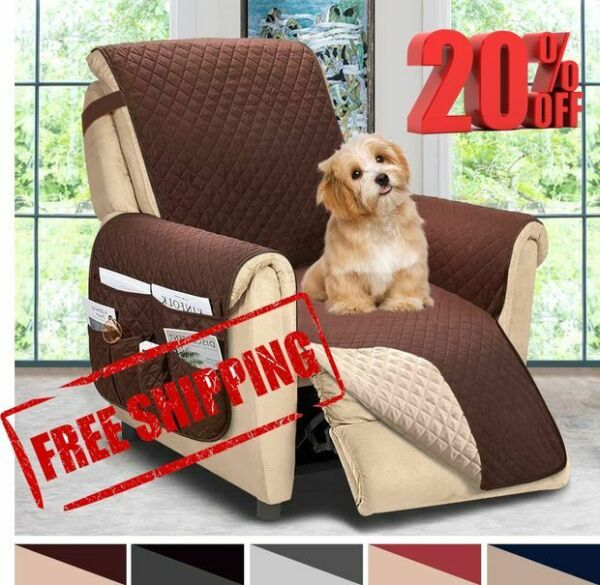 ASHLEYRIVER Reversible Recliner Chair Cover Sofa Covers for Dogs Sofa Slipcover $29.99