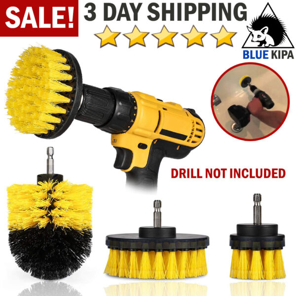 Brush Set Cleaning Drill Brush Kit Carpet Tile Power Scrubber Cleaner Attachment