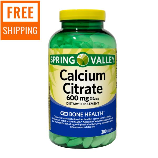 Spring Valley Calcium Citrate Tablets 600 mg 300 Count $20.40