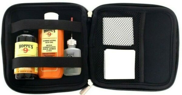 Hoppes Elite Gun Cleaning Kit.38 .45 Cal. Gun Oil Patches With Case $24.99