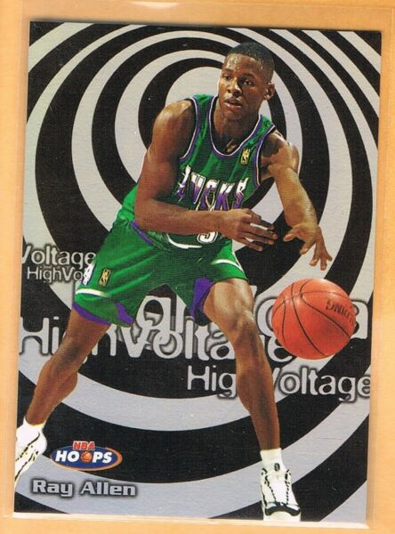 1997 98 Hoops High Voltage Ray Allen #3 Milwaukee Bucks $40.50