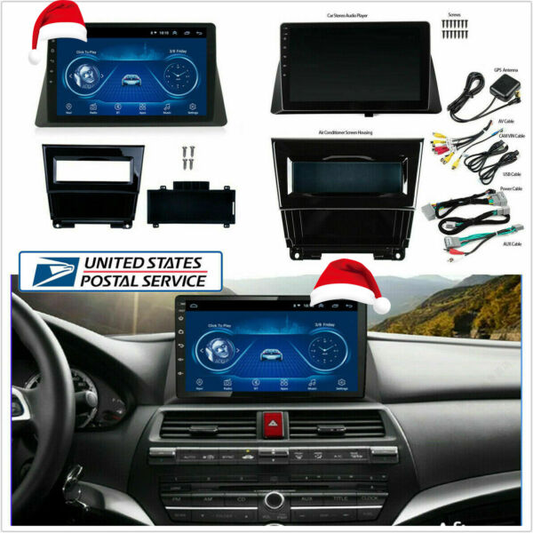 For Honda Accord 08 13 10.1quot; Android 9.1 Car Stereo Radio Player Wifi GPS Player