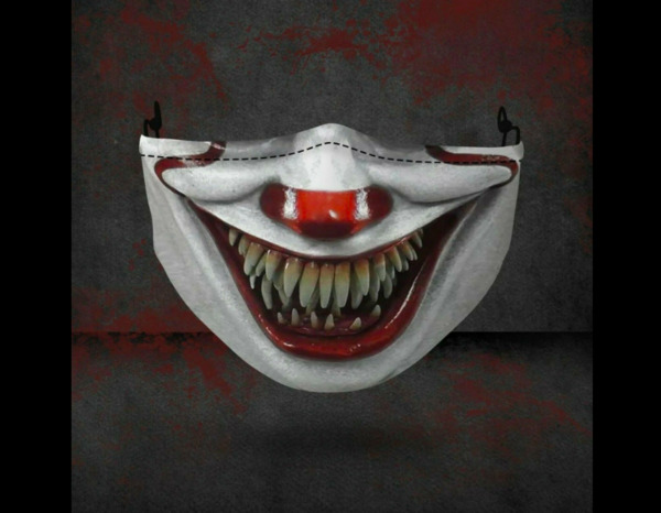 Stephen King Pennywise IT Clown Horror Halloween Reusable Scary Face Mask Cloth