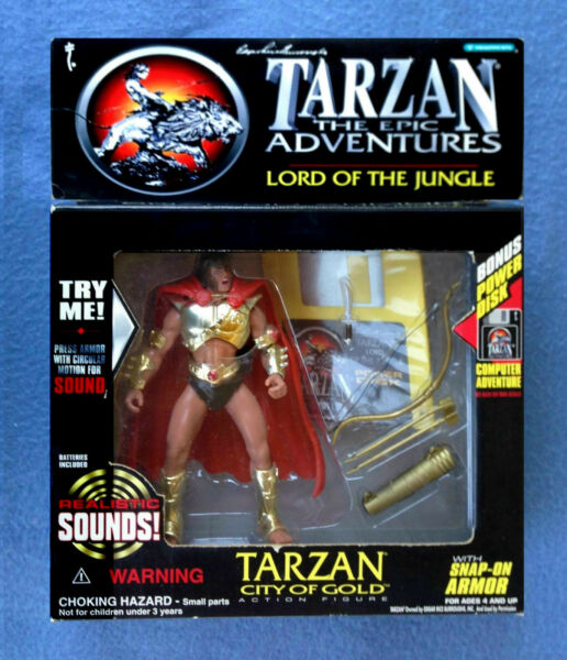 TARZAN LORD OF THE JUNGLE WITH SOUND CITY OF GOLD FIGURE TRENDMASTERS 1995 $14.95
