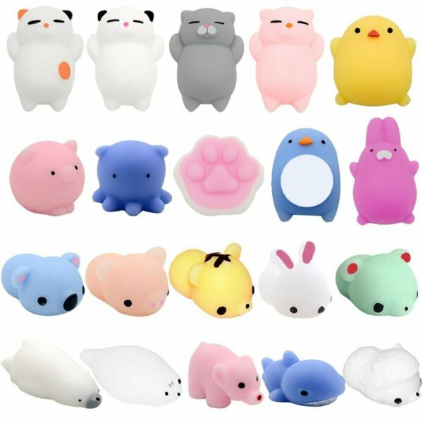Squishy Toys 20 Pcs Stress Relief Animal Toys Squeeze