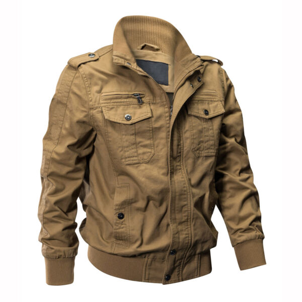 Men#x27;s Tactical Jacket Military Army Field Cotton Coat Airborne Pilot Bomber Coat