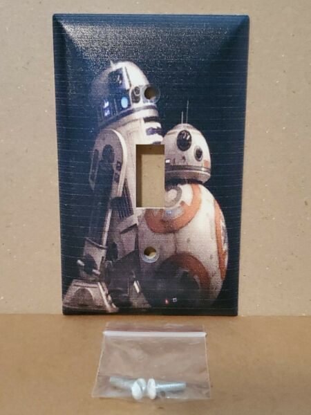 Disney Star Wars BB 8 amp; R2 D2 Droid Duo Home Decor Light Switch with Screws New $13.00