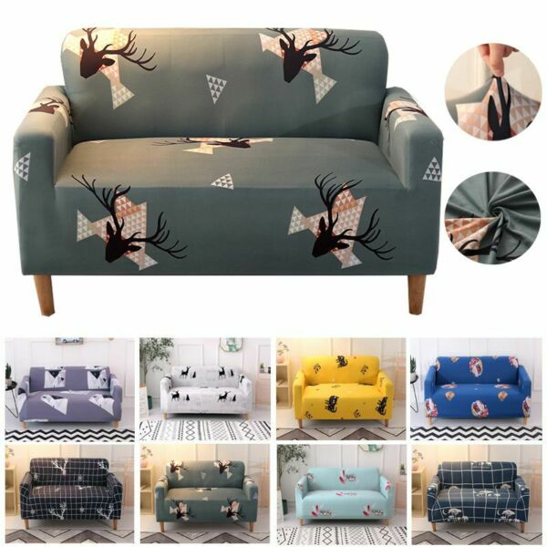 Printed Slipcover Sofa Covers Spandex Stretch Couch Cover Furniture Protectors $20.02