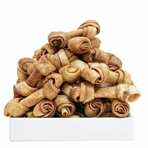 Dog Rawhide Knot Bones 2.5quot; for Puppy and Small Dogs Chicken Flavor Bones 40ct $16.21