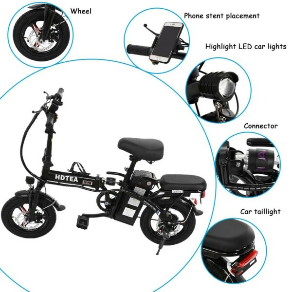 Folding Electric Bike for Adults 250W Ebike with 36V10AH Lithium Battery $390.59