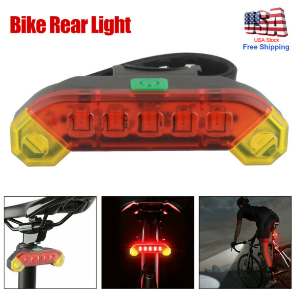 Cycling INDICATOR Bike Rear Light Safety Turn Signals Lights Cycling Accessories $8.23