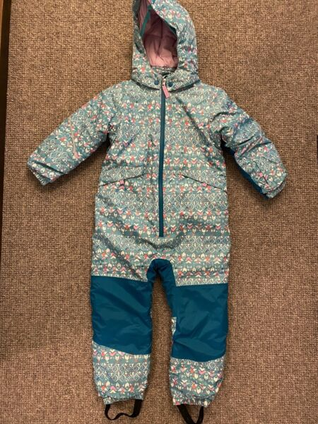 PATAGONIA Baby Toddler Snow Pile One Piece Snowsuit Bunting Suit Hooded 5T