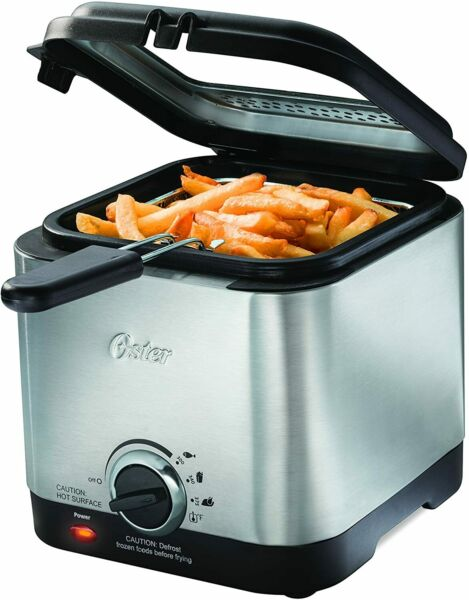 Deep Fryer Stainless Steel Compact Small Mini Electric Home Kitchen Food $39.99