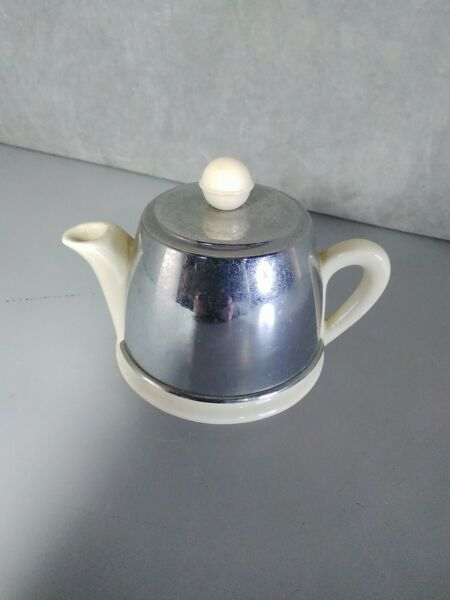 Metal And Ceramic Teapot Made in England