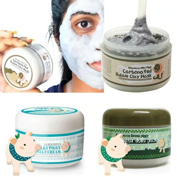 FACIAL MASK ELIZAVECCA CARBONATED BUBBLE CLAY MASK BRIGHTENING KORIAN 100g $20.69