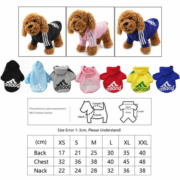 2 Leg Pet Dog Clothes Cat Puppy Coat Winter Hoodies Warm Sweater Jacket Clothing $6.99