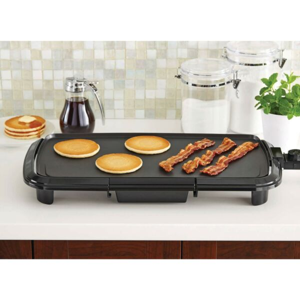 Griddle Grill Electric Indoor Non Stick Flat Top Countertop Dishwasher Safe NEW