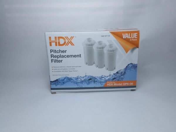 HDX Pitcher Replacement Filter 4 Stage Brita Compatible Pack of 3 New in Box