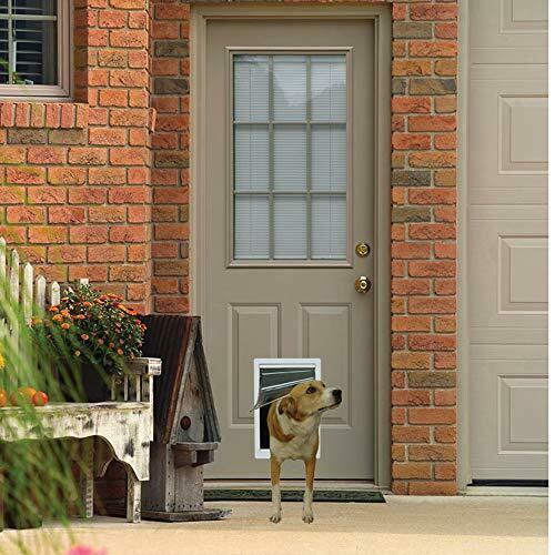 Pet Door Extreme Weather Dog Medium Exterior Cat Entry Dogs Heavy Duty 7x11 Inch $33.00