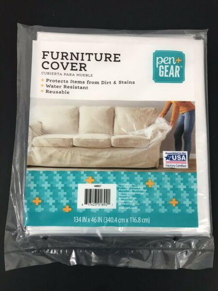 Clear Plastic Furniture Cover PenGear 134quot;x 46quot; Water Resistant Reusable $6.18