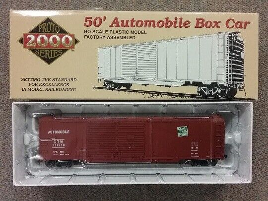 Proto 2000 HO RTR 50#x27; Automobile Box Car # 591572 Grand Trunk Western NIB $25.00