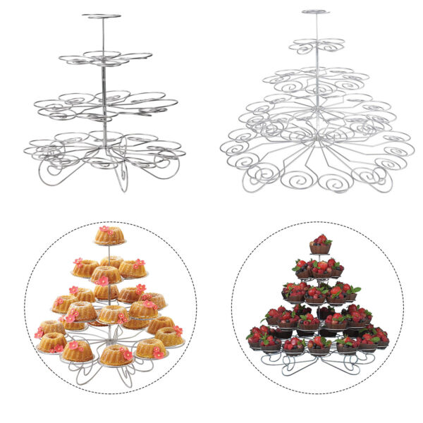 3 to 5 Tier Cupcake Stand Cake Holder Wedding Party Celebration Table Decoration