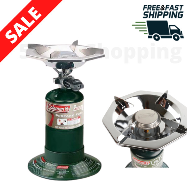 Portable Gas Stove Bottletop Propane With Adjustable Burner Outdoor Camping New