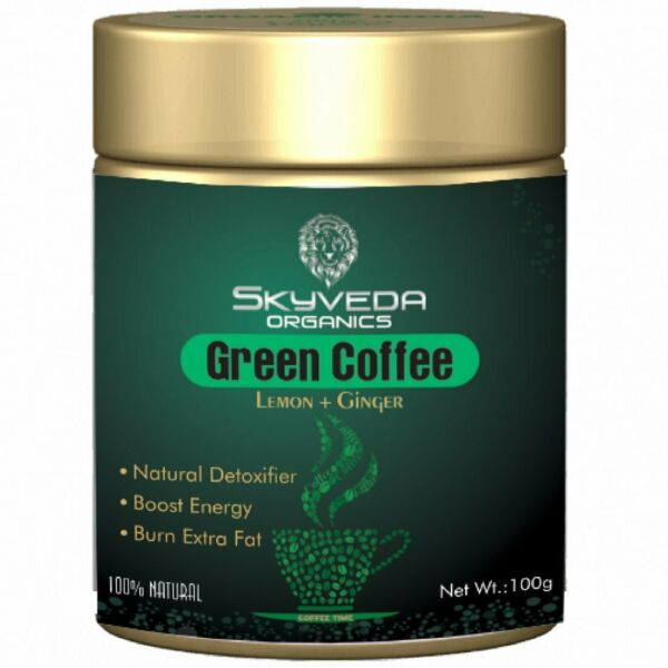 Skyveda Organic green Coffee Beans Powder for weight loss Free Shipping