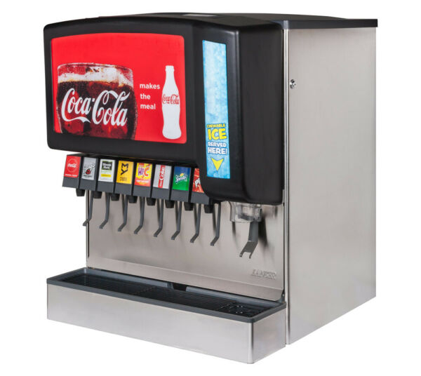 8 Flavor New Old Stock Ice amp; Beverage Soda Fountain System