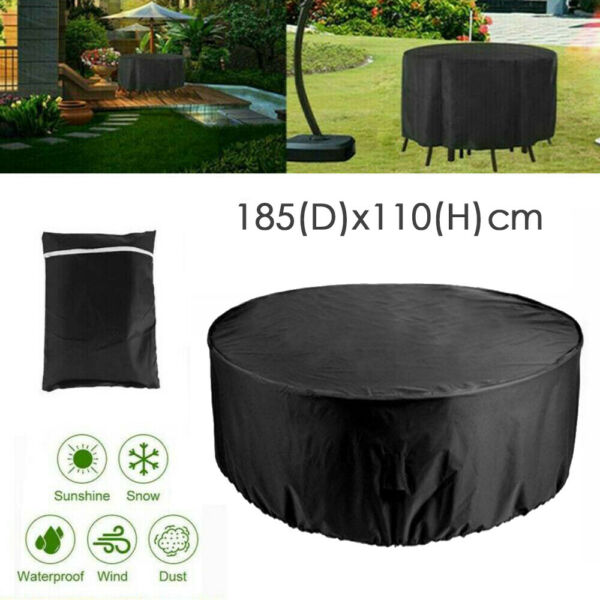Outdoor Round Table Chair Set Furniture Protect Cover Patio Waterproof Cloth $25.99