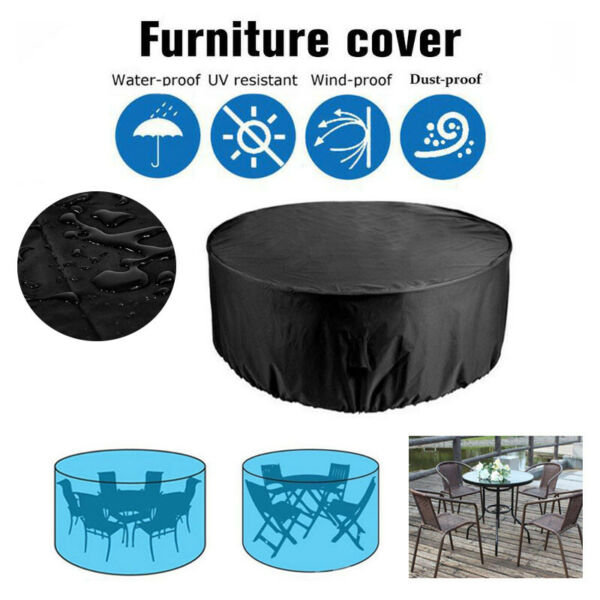Large Round Waterproof Outdoor Home Garden Patio Table Chair Set Furniture Cover $25.99