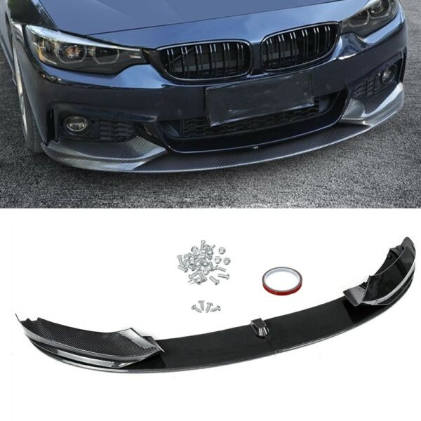 For 2014 2020 BMW F32 F33 F36 4 Series M Sport Front Lip Spoiler Carbon Fiber DN $112.00