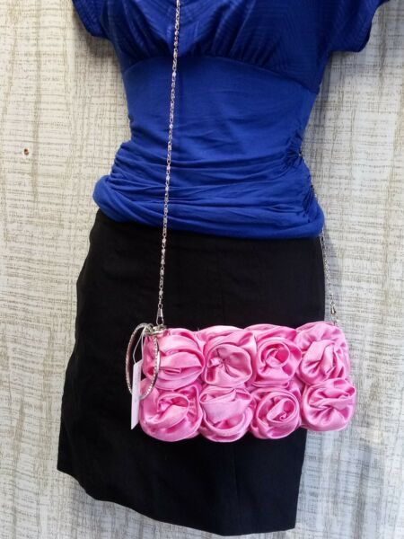 Bella Collection Pink Rose Womens Juniors Clutch Purse NEW