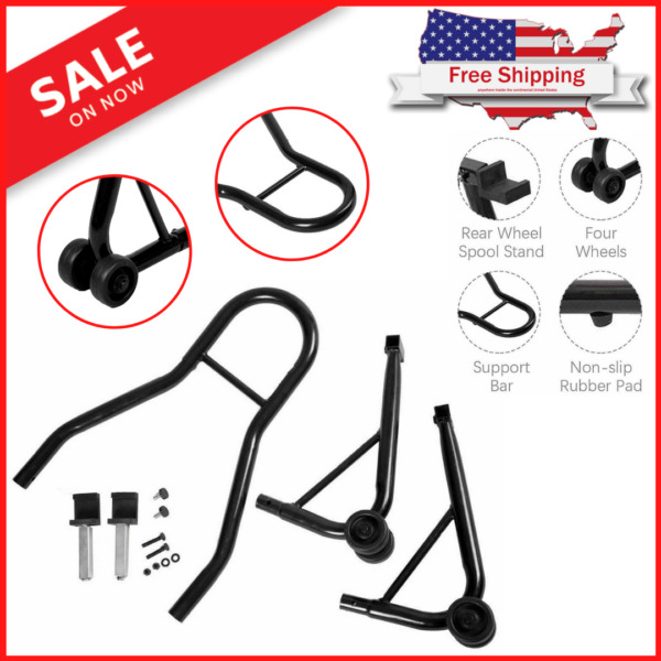Motorcycle Bike Stand Rear Forklift Spoolift Paddock Swingarm Lift Auto Bike BLK $40.97