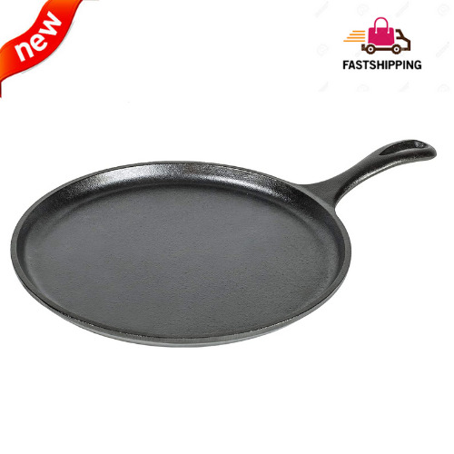 Lodge Logic Round Griddle Cast Iron Pre Seasoned 10 1 2quot;