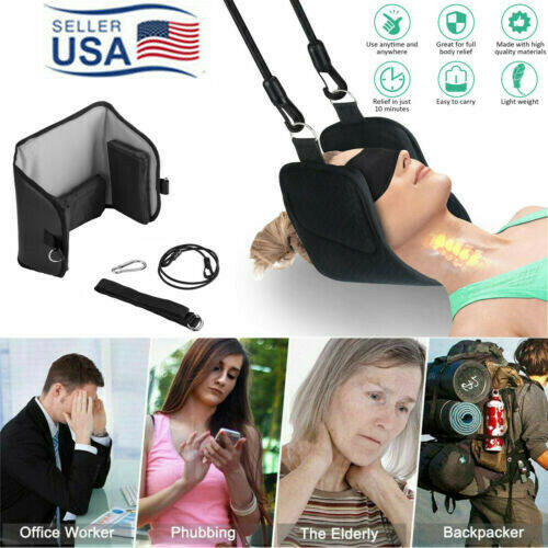 US Head Hammock for Neck Headaches Pain Relief Cervical Traction Stretcher $13.29