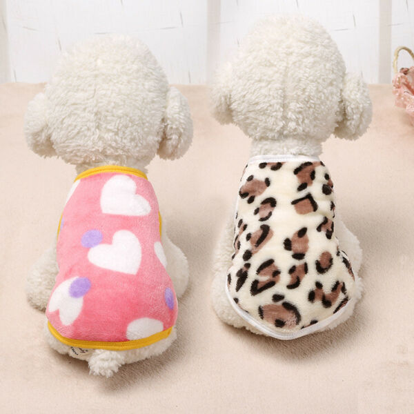 Cartoon Small Dog Clothes Pet Puppy Cute Vest Dog Cat Apparel 2 Colors XS XL $7.69