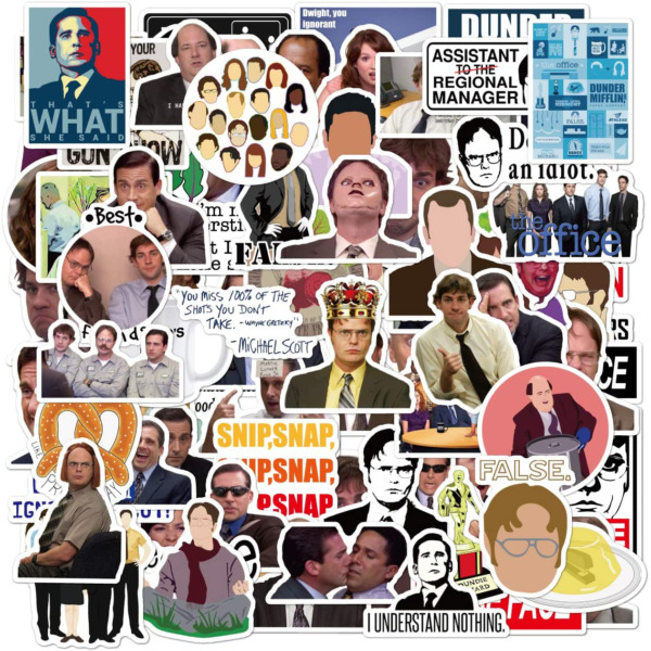 Zayali The Office Stickers 3 4quot; For Laptop Water Bottles Bike Cars Luggage 50Pcs $10.99