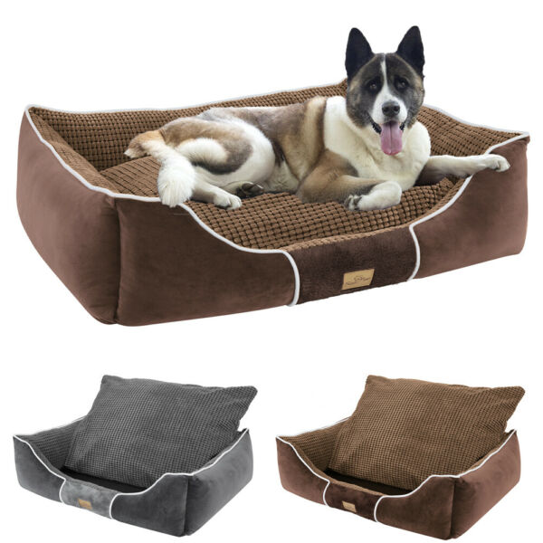 All Season Durable Large Dog Bed Orthopedic Calming Pet Couch Bed Washable Cover $25.92