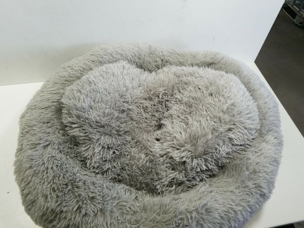 Friends Forever Donut Cat Bed Faux Fur Dog Beds for Large Medium Dogs $34.15