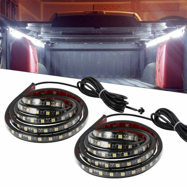 2X 60quot; LED BAR TRUCK BED CARGO WORK LIGHT KIT STRIPS FOR CHEVY FORD DODGE GMC