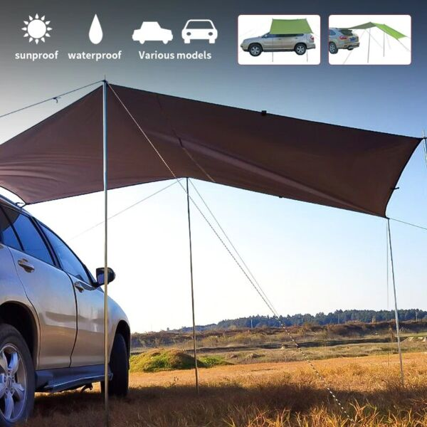 Awning Rooftop SUV Truck Camping Travel Shelter Outdoor Sunshade Canopy Car tent $44.99