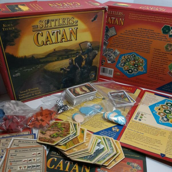 2007 The Settlers of Catan Board Game Mayfair Games. #3061 Klaus Teuber COMPLETE