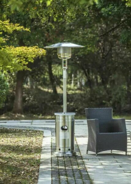 NEW Garden Treasures 48000 BTU Stainless Steel Patio Heater SHIPS FAST