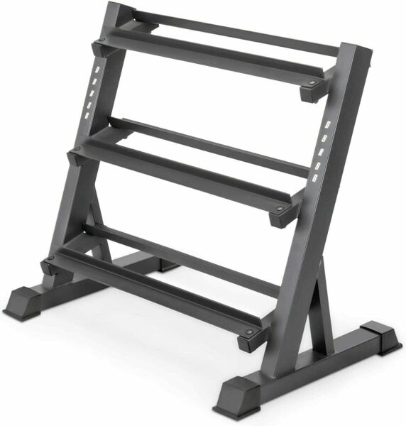 Marcy Dumbbell Weight Rack Stand Storage 3 Tier Metal Steel Home Workout Gym $149.69